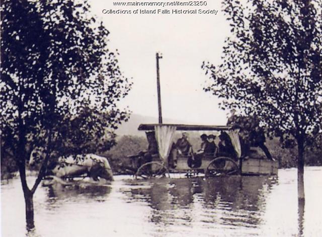 Webb family, 1923 flood, Island Falls