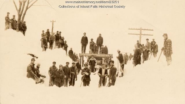 Webber crew, Island Falls, 1934