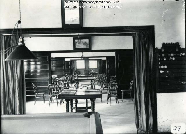 Parish house interior, 1909