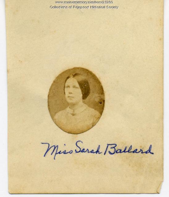 Sarah Ballard, Brunswick, ca. 1900
