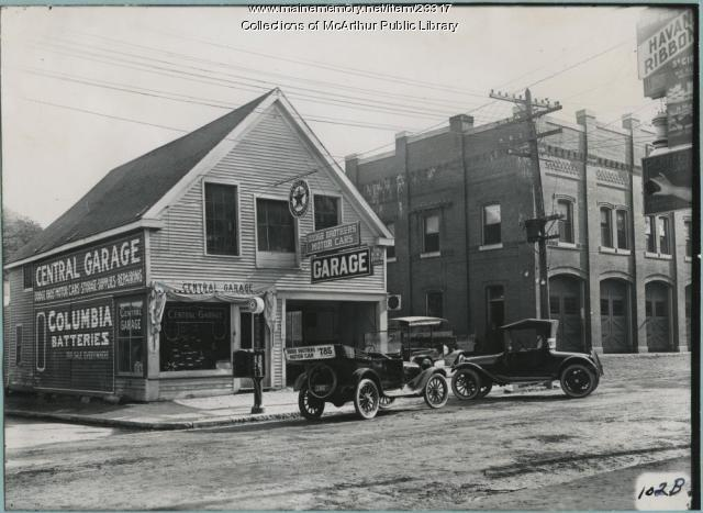 Central Garage, Biddeford,  1915