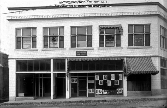 Dodge Block, Skowhegan, 1916
