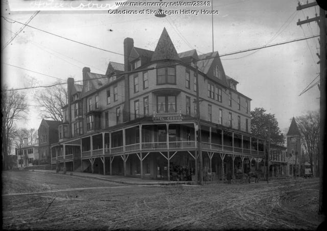 Hotel Coburn Skowhegan Ca 1905