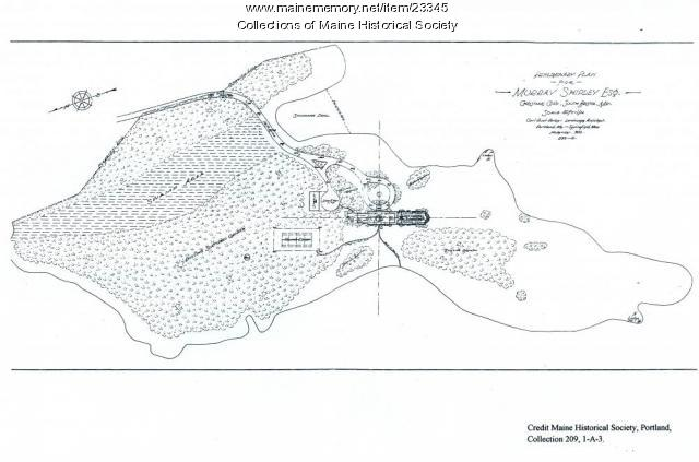 Plan of Christmas Cove property, 1916