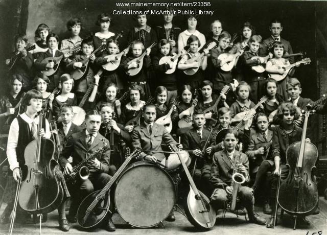 Emery Street School Orchestra circa 1921