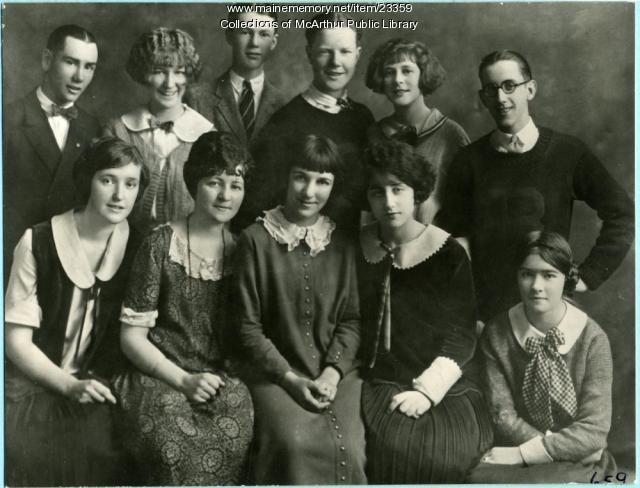 Cast of the Biddeford High School senior play, 1924