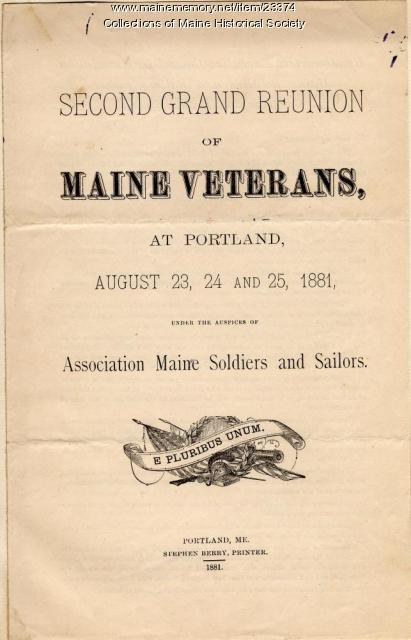 Civil War reunion program, 1881