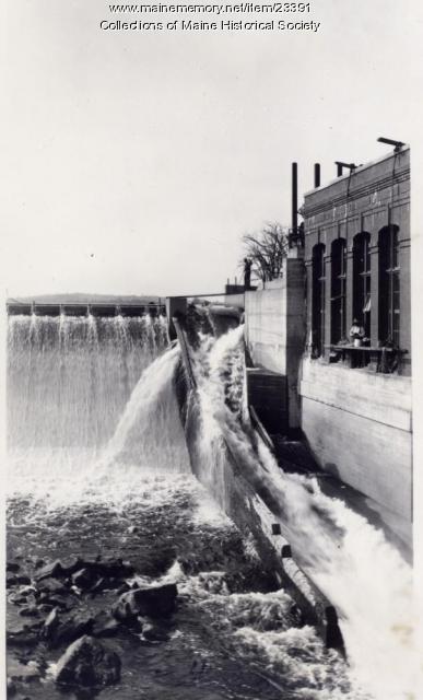 West Buxton dam, ca. 1912