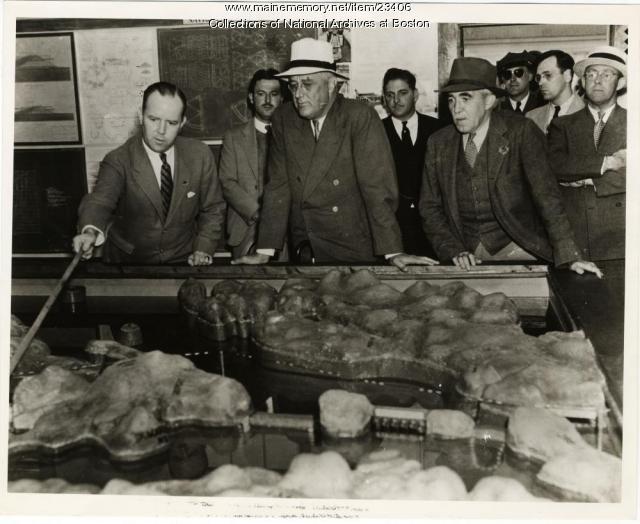 President Roosevelt, Eastport, 1936