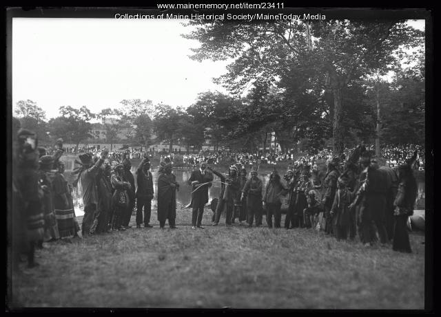 Wabanaki event at the Maine Centennial, Portland, 1920