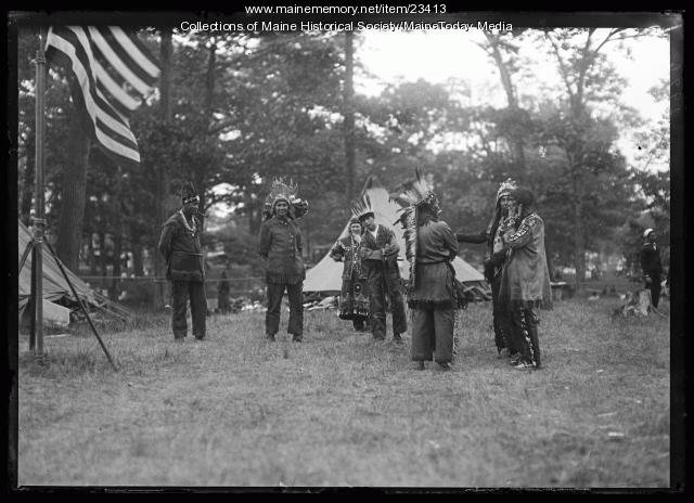 Wabanaki people at the Maine Centennial, Portland, 1920