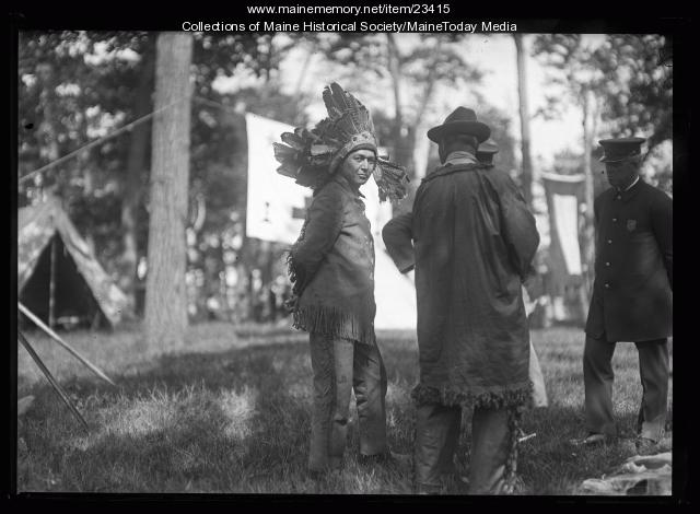 Passamaquoddy people at the Maine Centennial, Portland, 1920