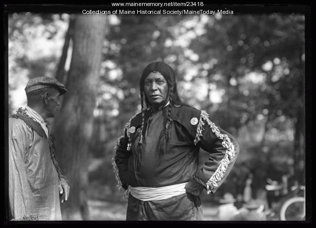 Noel Sabattus and Sabbattus Mitchell at the Maine Centennial, Portland, 1920