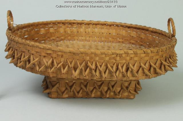 Penobscot open sewing basket, ca. 1860