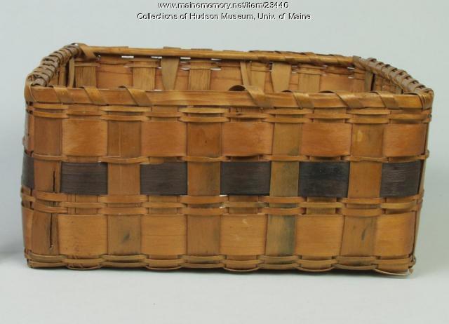 Penobscot square band basket, ca. 1880
