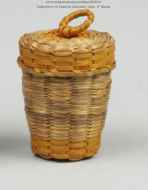 Thimble basket by Theresa Lyon Sockalexis, Indian Island, ca. 1934