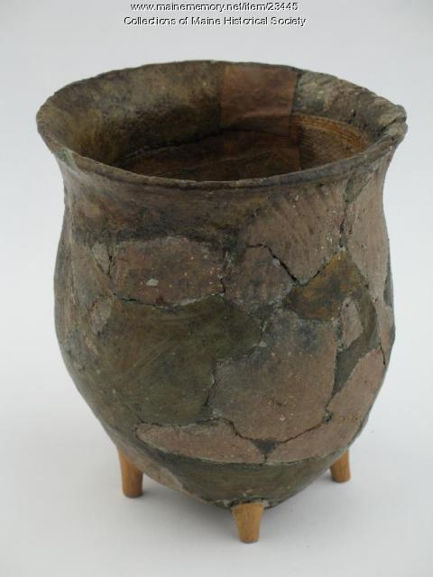 Reconstructed ceramic pot, ca. 700 BCE