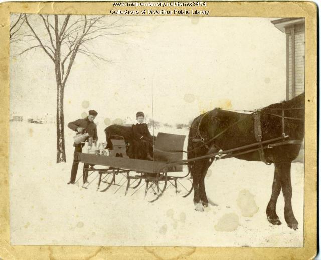 Milk delivery sleigh, Biddeford, ca. 1895