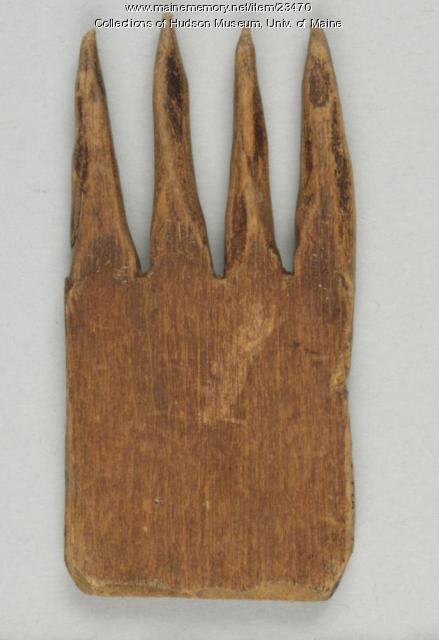 Sweetgrass comb, ca. 1900