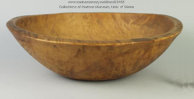 Penobscot burl bowl, ca. 1900