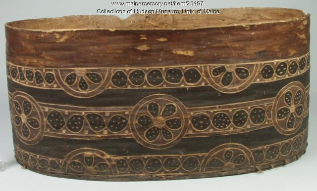 Bentwood container, ca. 1820