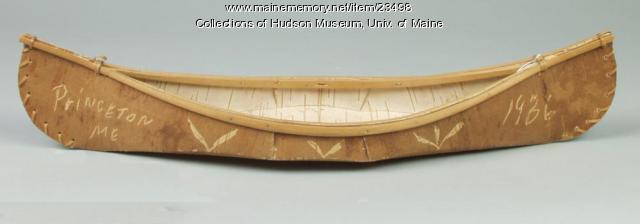 Model birchbark canoe, 1936