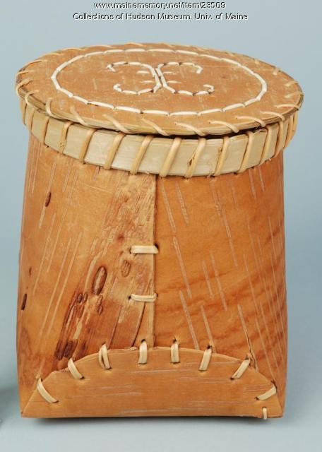 Penobscot birchbark basket, ca. 2001