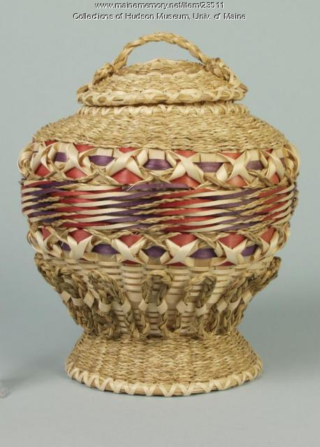 Passamaquoddy fancy basket, Perry, 1996