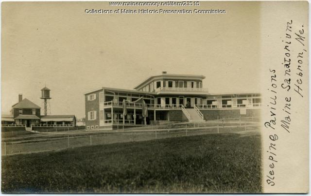 Women's sleeping pavilion, Maine State Sanatorium, Hebron, ca. 1915