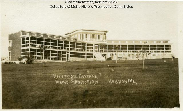 Reception cottage, Maine State Sanatorium, Hebron, ca. 1910
