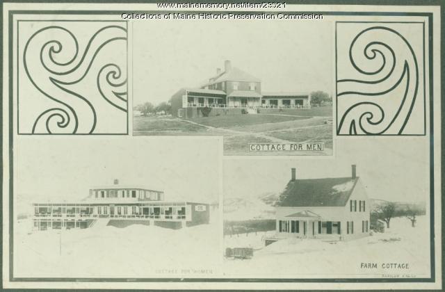 Resident cottages, Maine State Sanatorium, Hebron, ca. 1909