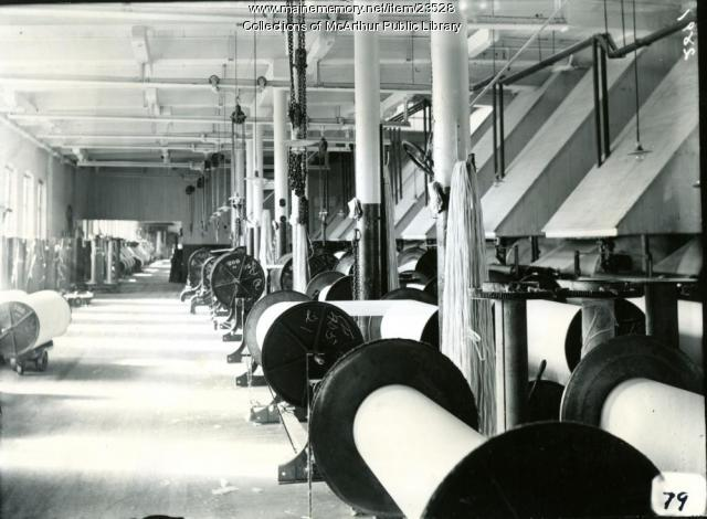 Laconia Division in Pepperell Mills, Biddeford, 1910