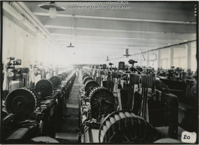 Looms at Pepperell Mills, Biddeford, 1910