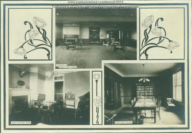 Leisure rooms, Maine State Sanatorium, Hebron, ca. 1909