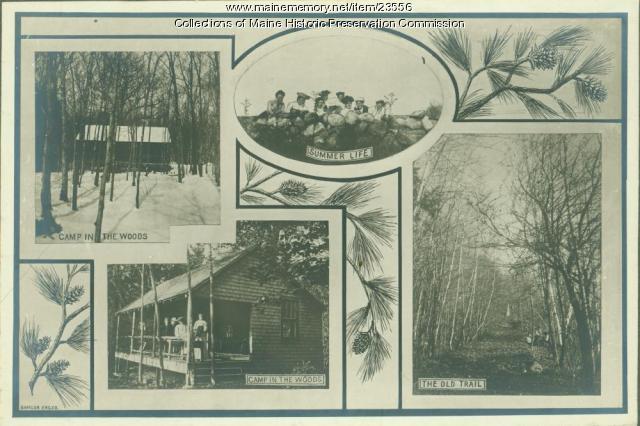 Outdoor features, Maine State Sanatorium, Hebron, ca. 1909