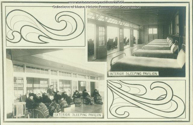 Sleeping pavilions, Maine State Sanatorium, Hebron, ca. 1909