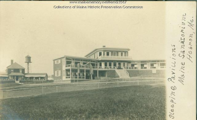 Sleeping cottages, Maine State Sanatorium, Hebron, ca. 1907