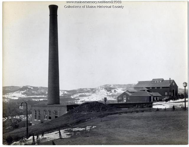 Barn and creamery, Maine Sanatorium, Hebron, ca. 1908