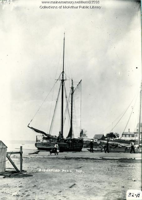 Schooner Abana, Biddeford Pool, 1910