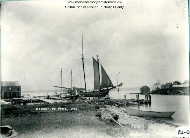 Schooner Abana, Biddeford Pool Gut, 1910