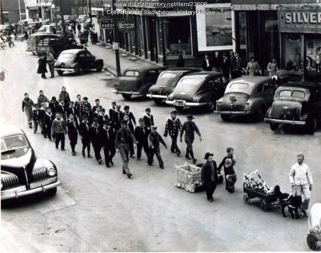 Youth Week Parade, Main Street, Calais, ca. 1945