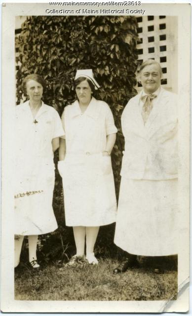 Sanatorium doctor and staff, ca. 1928