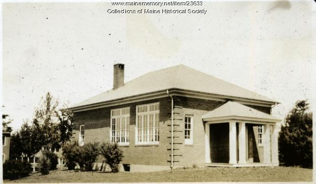 School House, Western Maine Sanatorium, 1928