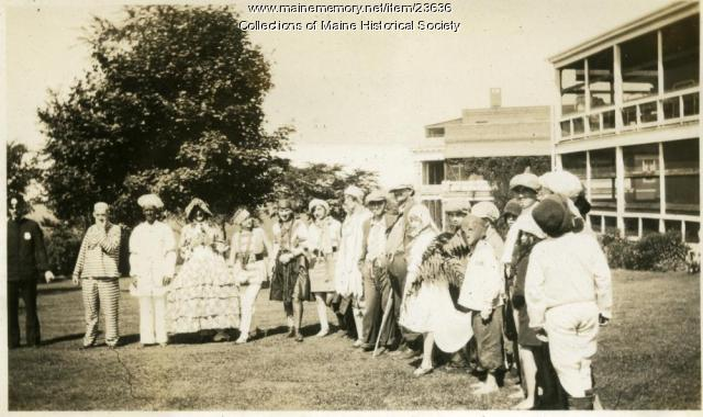 July 4 revelers, Western Maine Sanatorium, Hebron, 1928