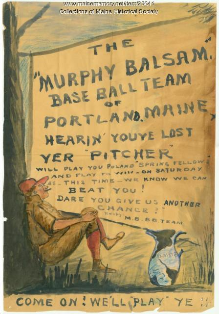Baseball challenge, 1894