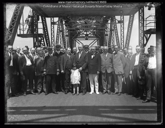 Opening ceremony, World War Memorial Bridge, Portsmouth, 1923