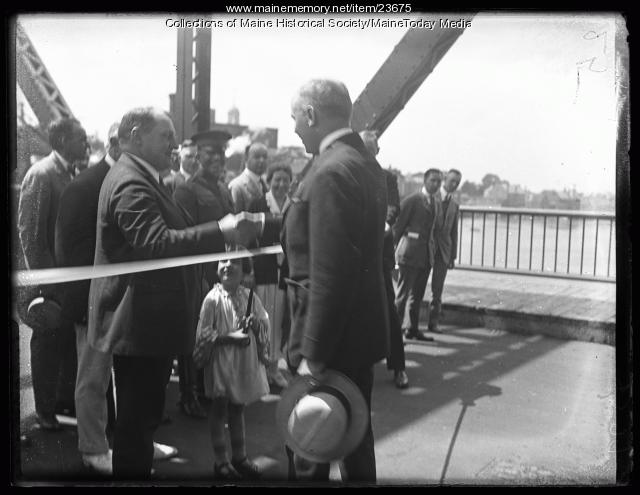 Kittery-Portsmouth Bridge ceremony, 1923