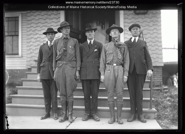 Boy Scout leaders, South Portland, 1921