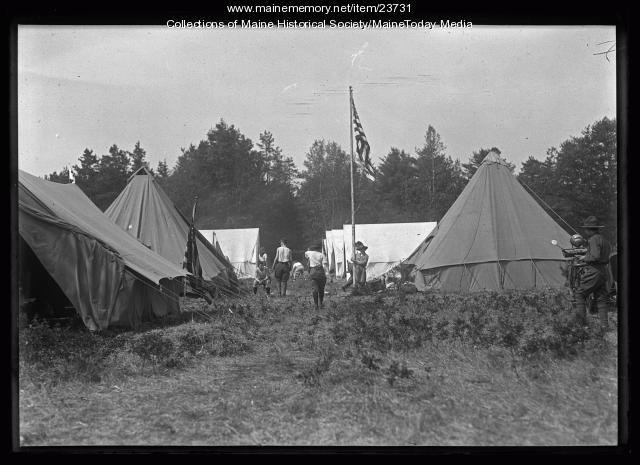 Boy Scout encampment, Falmouth Foreside, 1921