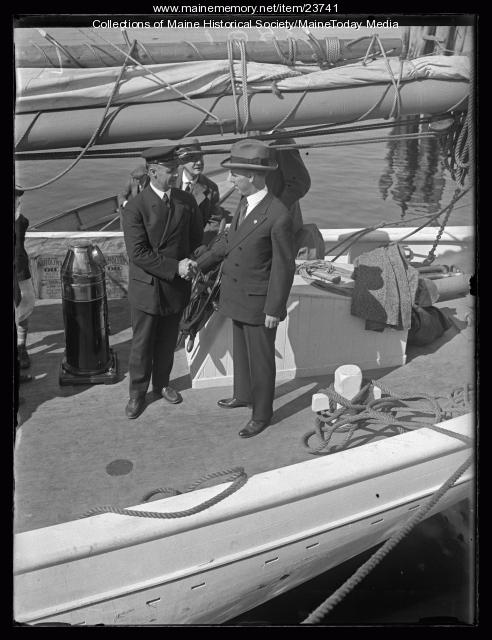Governor Brewster, Commander MacMillan, Wiscasset, June 19, 1926